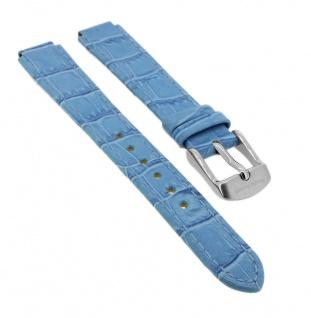 Bruno Banani Ersatzband 11mm in blau aus Leder mit Naht mit Schließe silberfarben CD 3057