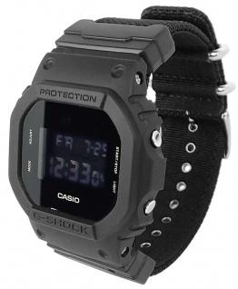Casio G-Shock Digitale Herrenuhr DW-5600BBN-1ER in schwarz mit Multifunktionsalarm