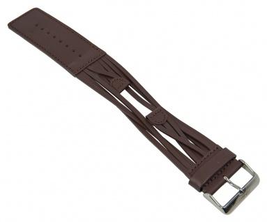 Uhrenarmband Leder Band Unterlageband 12mm dunkelbraun passend zu s.Oliver SO-1296-LQ