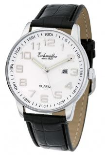 Herren Armbanduhr | Quartzuhr mit Datum | Lederband > schwarz | Ziffernblatt > weiß > 36273