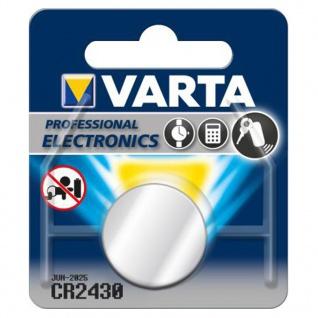 Varta Knopfzelle Batterie 3V Ersatzbatterie CR2430 Lithium für Armbanduhren 34291