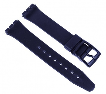 Minott Uhrenarmband Kunststoff Band 17mm Blau passend zu Swatch Uhren