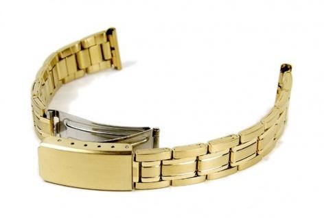 Minott Uhrenarmband Edelstahl Band IP Gelbgold 14mm - 16mm 18298G
