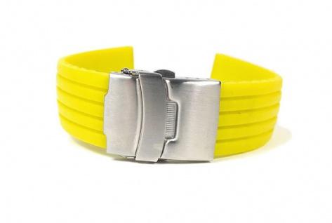 Minott Rubber Uhrenarmband Silikon Band Neon Gelb 22458