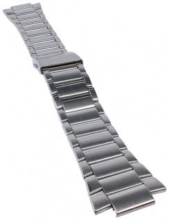 Casio Armband | Uhrenarmband Edelstahl Band Silberfarben für Collection MTP-1297BD