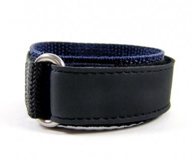Minott Uhrenarmband Sport-Watch Loop schwarz/Blau 20mm - Vorschau 2