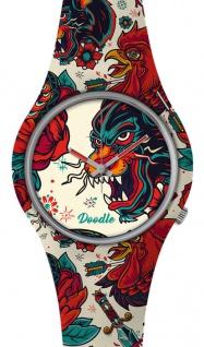 DOODLE WATCH ? Armbanduhr für SIE& IHN Ø 39mm | Silikonband > Panther > DOTA001