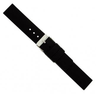Silikon Uhrenarmband Wasserfest schwarz 22mm