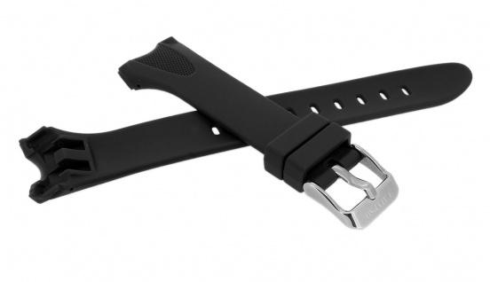 Calypso Uhrenarmband schwarz Band aus Kunststoff mit Breitdornschließe K5741/4