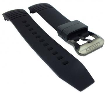 Citizen Promaster Altichron Ersatzband schwarz Silikon Band schwarze Schließe BN4026-09F BN4026