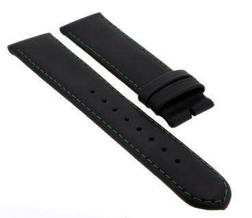 Junghans Mega Solar Uhrenarmband 20mm Leder schwarz 018/1500 018/1611