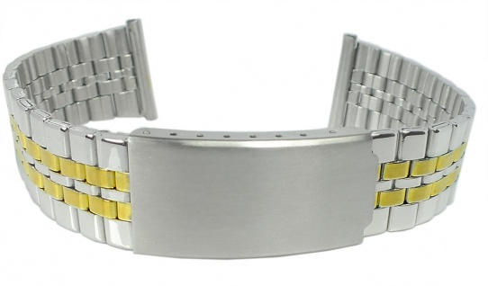 Minott Ersatzband 20mm Edelstahl Band gelbgoldfarben / silbern 37744