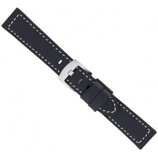 Uhrenarmband Ersatzband Leder Band Schwarz 26598S
