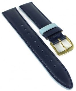 Timex Easy Reader Ersatzband 20mm blau Leder blau glatt Naht PW2R62600 TW2R62600