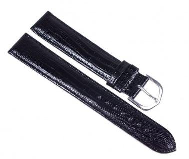 Minott Eidechs-Narbung Uhrenarmband Kalbsleder Band XL schwarz 23579S - Vorschau 1