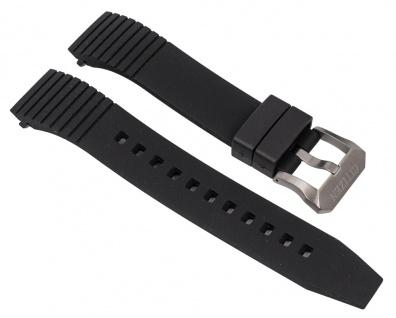 Uhrenarmband Polyurethan Band schwarz passend zu Citizen Promaster Land BN4021-02E