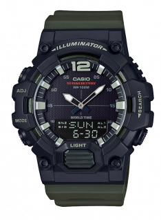 Casio Collection Digital-Analog Herrenuhr HDC-700-3AVEF in schwarz mit Weltzeit Funktion