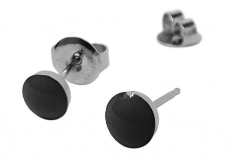 STUDEX Kugel Erstohrstecker Ohrschmuck Ohrringe Ø 5mm Edelstahl schwarz 100 % Steril 30486