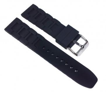 Herzog Rubber-Active Uhrenarmband Silikon Band Schwarz 23636S