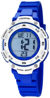 Calypso Damenarmbanduhr Quarzuhr Kunststoffuhr mit Polyurethanband Alarm-Chronograph digital K5669/7