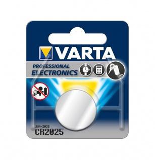 Varta Knopfzelle Batterie 3V Ersatzbatterie CR2025 Lithium für Armbanduhren 34288