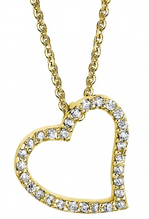 Lotus Silver Halsschmuck Collier Kette mit Herz Anhänger Silber goldfarben LP1519-1/2