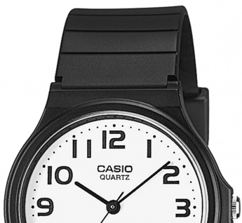 Uhr Casio Collection Analog Resin Armband schwarz MQ-24-7B2LEF