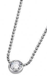 Lotus Silver Halsschmuck Collier Kette mit Anhänger und Zirkonia Silber LP1272-1/1