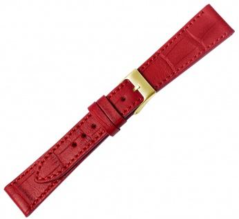 Minott Ersatzband rot Leder Verlauf Made in Europ Krokoprägung Ton in Ton Naht