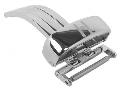 HIRSCH DEPLOYMENT BUCKLE | Faltschließe aus Edelstahl, silberfarben in 16mm, 18mm 20mm 22mm 31127