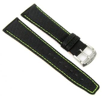 Citizen Ersatzband Uhrarmband Textil / Leder schwarz 22mm AT0970-16E