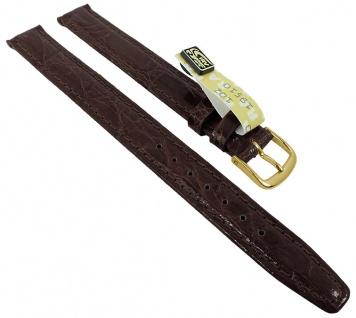 Graf Manufaktur Bahamas Damen XL Ersatzband echt Krokodil Leder dunkelbraun 993.2.11 - 27582