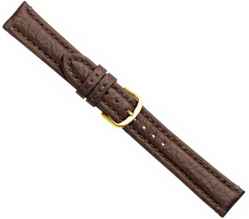 Buffalo Uhrenarmband Büffelleder Dunkelbraun 20735G