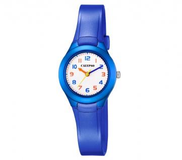 Calypso Kinderarmbanduhr   analoge Quarzuhr aus Kunststoff   Mädchen / Jungen   blau K5749/6