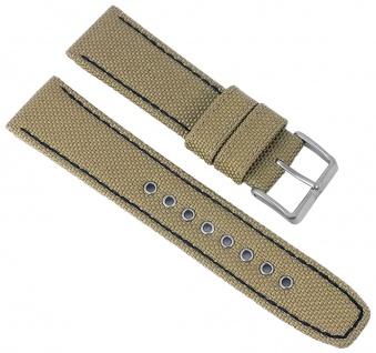 Citizen Elegant | Uhrenarmband Textil Band 22mm beige mit Naht für AW1365