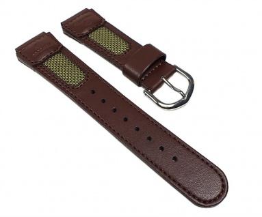 Casio Uhrenarmband Leder / Textil Band Braun für FT-620L-1 FT-620L