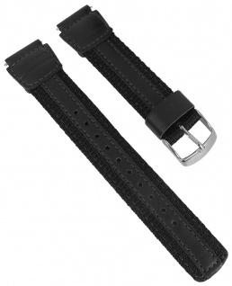 "Casio Uhrenarmband schwarz AW-82B Textil/Leder Mix "" Fishing Gear"""