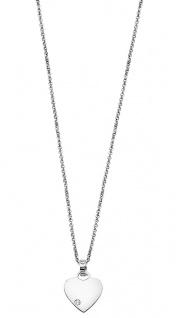 Lotus Silver Halsschmuck Collier Kette mit Herz Anhänger Silber LP1715-1/1