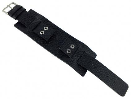 Bruno Banani NYX | Unterlageband 22mm aus Leder in schwarz genarbt | BS3 221 301