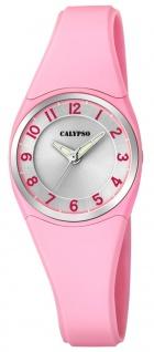 Calypso   Damenarmbanduhr Quarzuhr Kunststoffuhr mit Kunststoffband rosa analog K5726/2