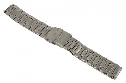 Minott Uhrenarmband Edelstahl Band Silberfarben matt/hochglanz 18mm 26851