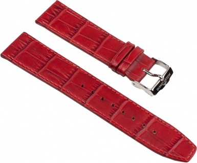 Jacques Lemans Uhrenarmband Kalbsleder Band Rot 22mm für 1-1579