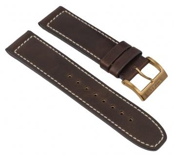 Uhrenarmband Leder Band dunkelbraun 22mm passend zu Citizen Eco Drive Sports Chronograph CA4213-00E 28558