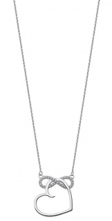 Lotus Silver Halsschmuck Collier Kette mit Herz Anhänger Silber LP1819-1/1