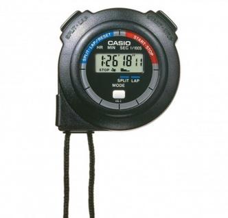 Casio Stoppuhr 1/100th sec. HS-3V-1RET Acrylglas schwarzes Resingehäuse