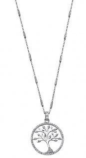 Lotus Silver Halsschmuck Collier Kette mit Lebensbaum Anhänger Silber LP1780-1/1