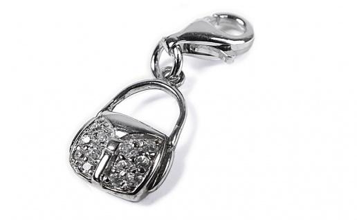 Minott Charms Anhänger Tasche 925/-Silber Rhodiniert mit Zirkonia H7-147