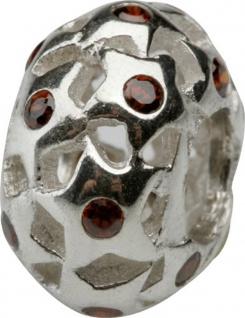 Charlot Borgen Marken Damen Bead Beads Drops Silber mit Zirkonia SCZ-23-Rot