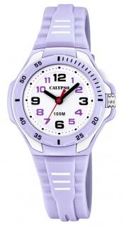 Calypso Kinderarmbanduhr analoge Quarzuhr Kunststoff für Mädchen lila K5757/2