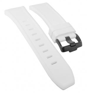 Jacques Lemans Miami Ersatzband weiß Uhrenarmband Silikon Band Spezial Anstoß 1-1784 1-1784i